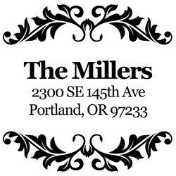 Millers Return Address Stamp