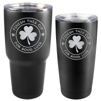 Finish This Cup St. Patrick's Day Matte Black Tumbler (30 oz or 20 oz)