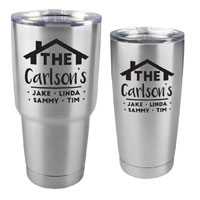 Family Customized Tumbler - 30 oz or 20 Stainless Steel