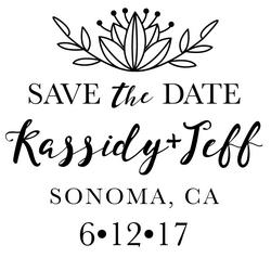 The Crown Save the Date rubber stamp is a great and unique way to let everyone know about your special upcoming wedding date!