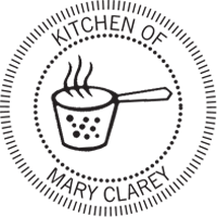 Kitchen of - logo embossing seal is great for recipe cards or cookbooks.