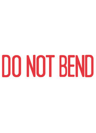1537 - Xstamper #1537 DO NOT BEND Stock Stamp