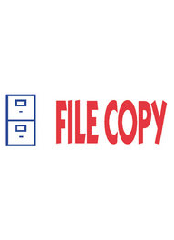 #2032 Xstamper File Copy Stock Stamp