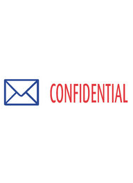 #2034 Xstamper Confidential Stock Stamp