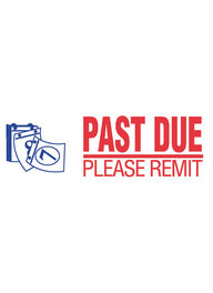 #2049 Xstamper Past Due Please Remit Stock Stamp