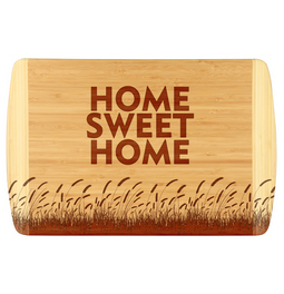 There's no place like home with this custom bamboo cutting board.  Great for a new home owner or perfect for your own home.
