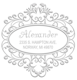 Alexander the great designer address embossing seal. Choose from pocket or desk style. Makes a great gift.