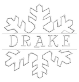 Drake Flake Holiday paper embossing seal, style CE-70060. Choose from pocket, desk, gold or chrome seals. Makes a great gift.
