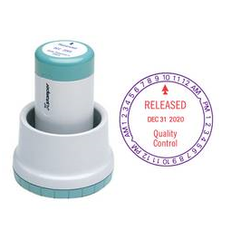 The N78 XpeDater Rotary Date Stamp prints your custom message along with the month, day and year over a 6-year period.