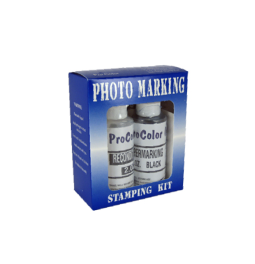 Photo Marking Ink Kit includes a bottle of ink, conditioner and a stamp pad.