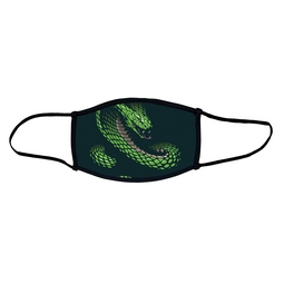 Snake face mask.  Masks come with elastic ear loops and fastener which allows a snug fit.