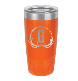 Unique antler design tumbler is great for the hunter enthusiast. Laser engraved tumbler will leave a great and detailed impression.