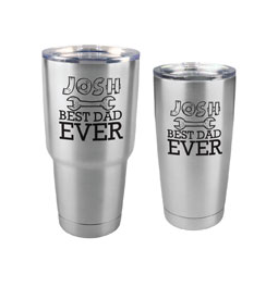 TUMBLER-B-ST - Best Dad Ever Tumbler - 30 oz or 20 Stainless Steel