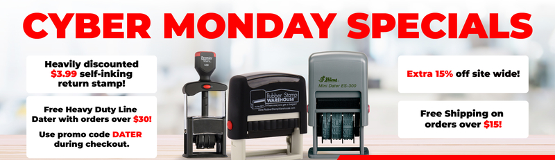 Cyber Monday Specials for Rubber Stamp Warehouse