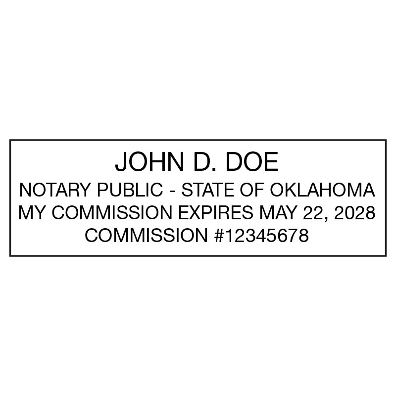 Oklahoma Notary Stamp Rectangle