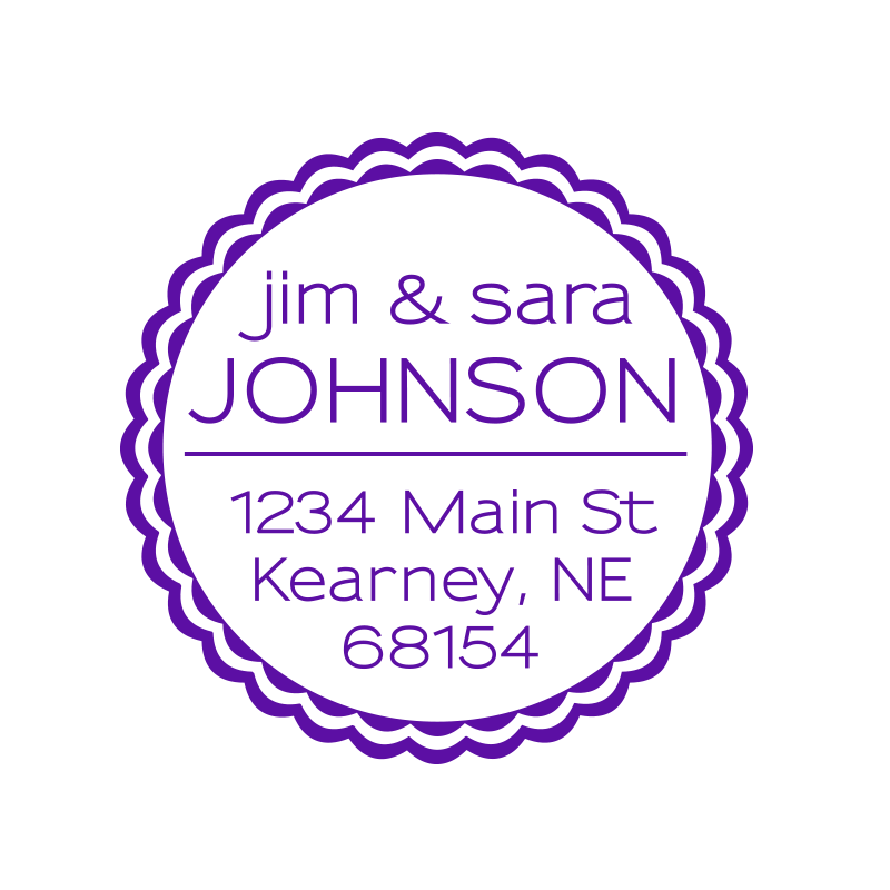 Address Monogram Stamps