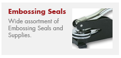Embossing Seals and Supplies