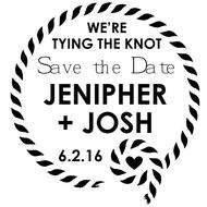 WD-0002 - Scarf Save the Date Rubber Stamp