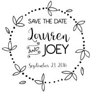 WD-0013 - Round Pedal Save the Date Rubber Stamp