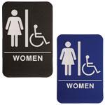 "ADA102_202 - Women ADA Compliant Sign with Wheelchair, 6"" x 9"""
