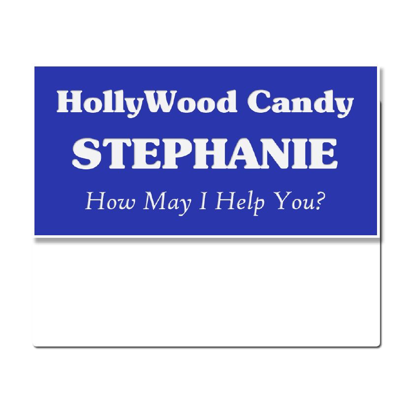 "J33 - 1-1/2"" x 3"" Pocket Name Badge,3-Lines Max"