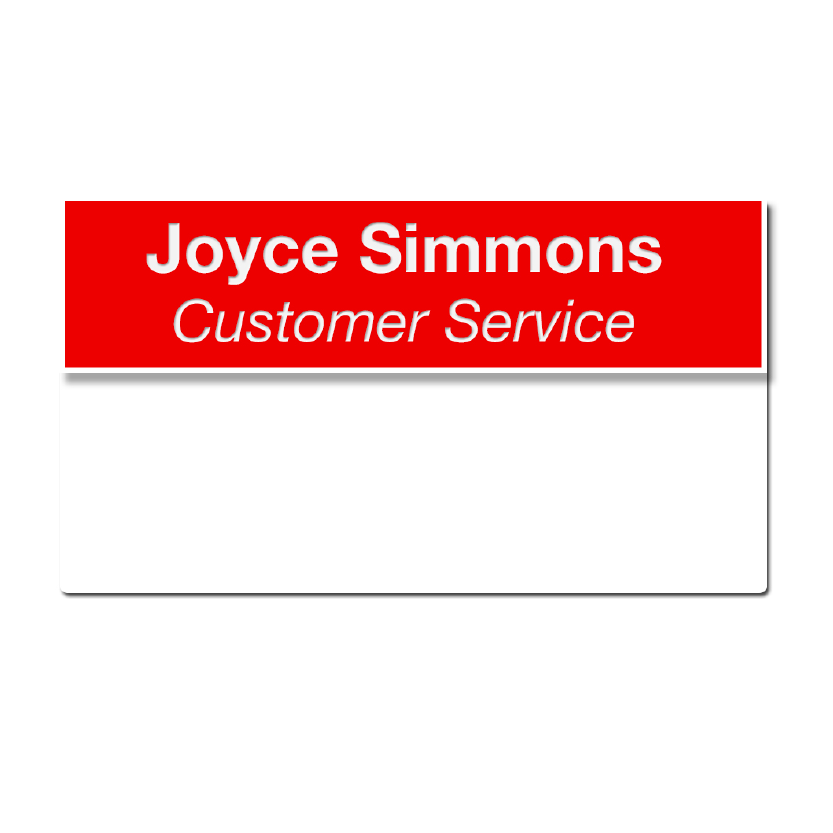 "J31 - 3/4"" x 3"" Pocket Name Badge, 2-Lines Max"