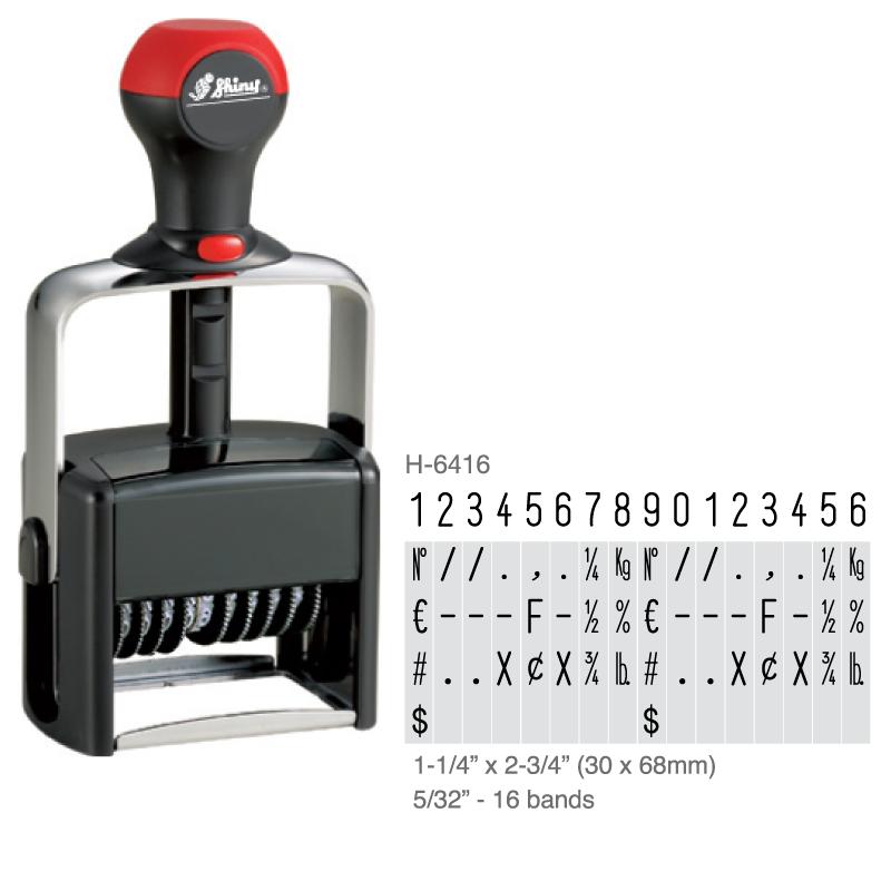 H-6416 - Shiny H-6416 16 Band Numberer