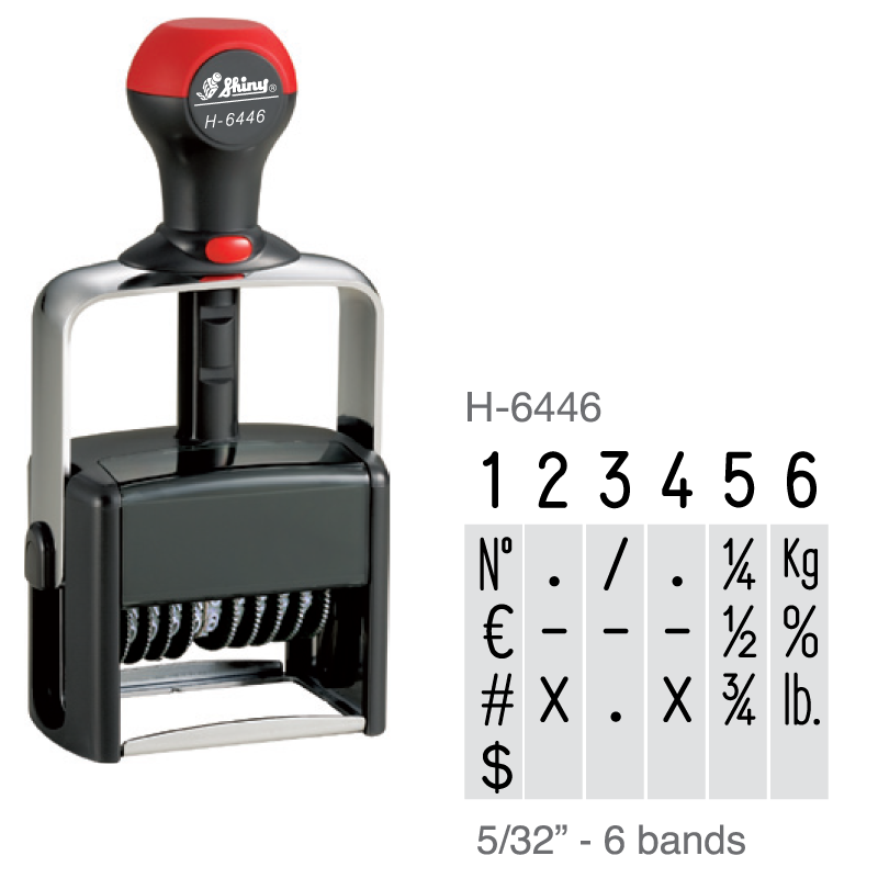 H-6446 - Shiny H-6446 6 Band Numberer
