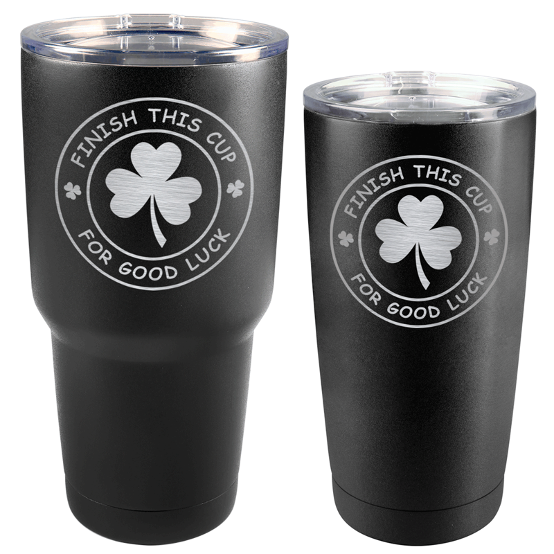 FINISHCUPMATTE - Finish This Cup St. Patrick's Day Matte Black Tumbler (30 oz or 20 oz)
