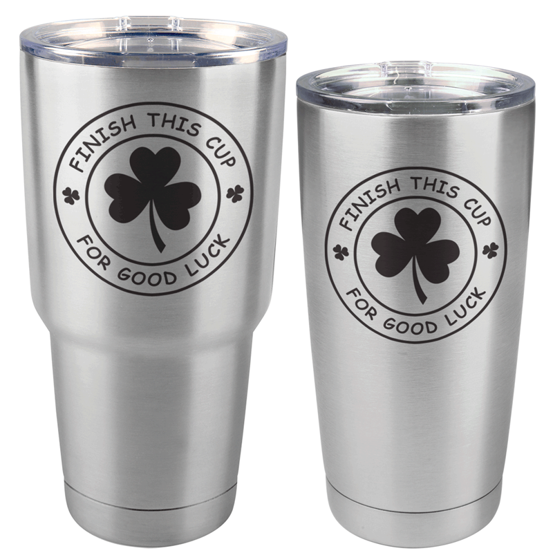 FINISHCUPSS - Finish This Cup St. Patrick's Day Stainless Steel Tumbler (30 oz or 20 oz)