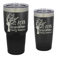 TUMBLER-C-BM - Family Reunion Customized Tumbler - 30 oz or 20 Black Matte Stainless Steel