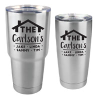 TUMBLER-E-SS - Family Customized Tumbler - 30 oz or 20 Stainless Steel