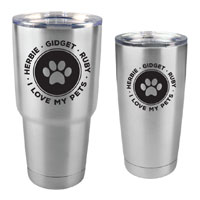 Dog and Cat Customized Tumbler - 30 oz or 20 Stainless Steel